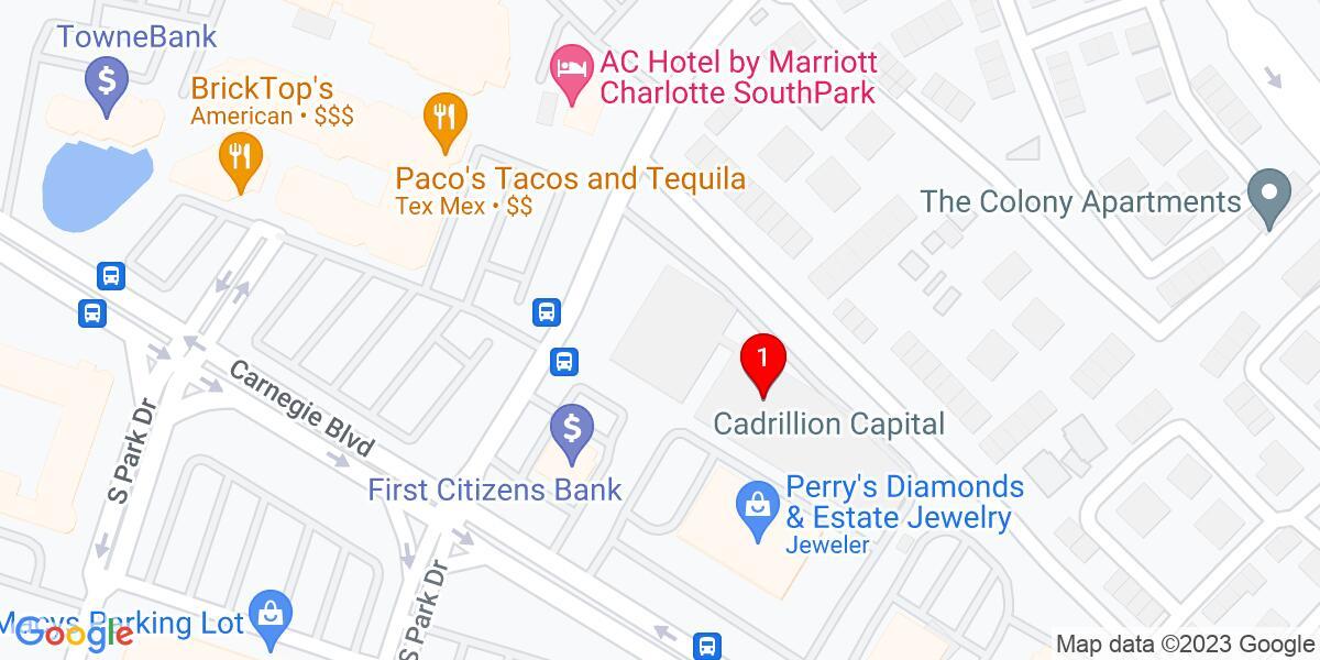 Google Map of 1901 Roxborough Rd Suite 210, Charlotte, NC 28211