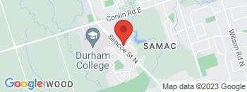 Google Map of 1901+Simcoe+Street+North%2COshawa%2COntario+L1G+4Y4