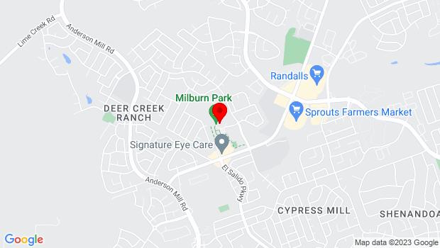 Google Map of 1901 Sun Chase Blvd., Cedar Park, TX 78613