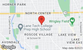 Map of 1904 West Patterson Avenue CHICAGO, IL 60613