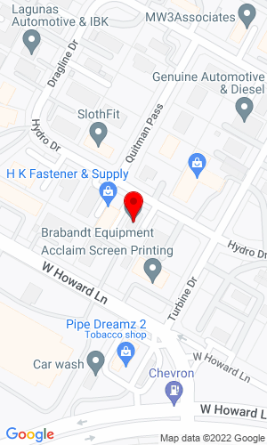Google Map of Brabandt Equipment LLC 1905 Hydro Drive, Austin, TX, 78728