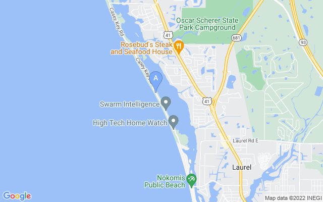 1906 Casey Key Rd Nokomis Florida 34275 locatior map