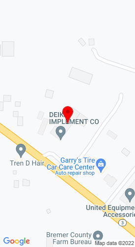 Google Map of Deike Implement Co 1907 E Bremer Ave, Waverly, IA, 50677