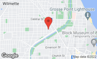 Map of 1909 Grant Street A EVANSTON, IL 60201