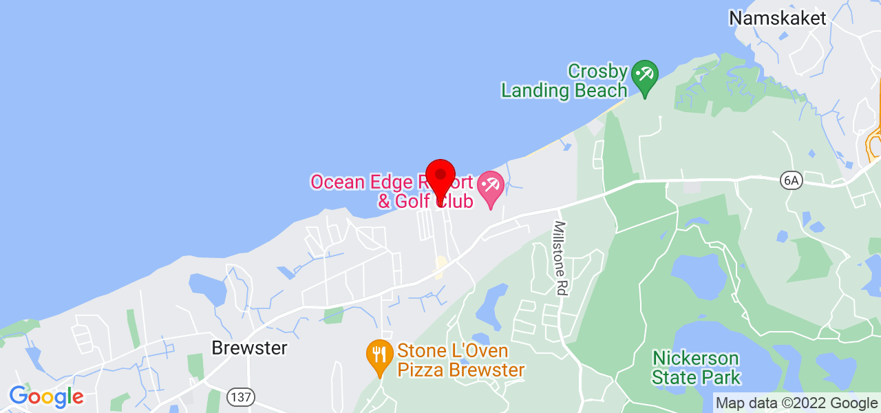Google Map of191 Winslow Landing Road Brewster MA