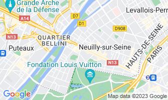 Map of Neuilly-sur-Seine