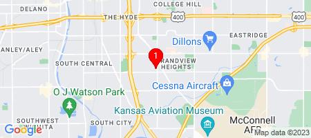 Google Map of 1912 S Lorraine Ave Wichita, KS 67211