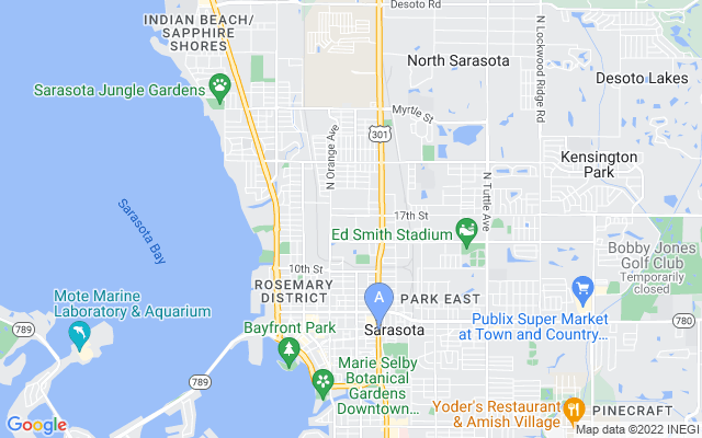1914 Upper Beechwood Ave Sarasota Florida 34231 locatior map