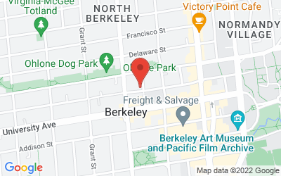 Map of Berkeley-Downtown