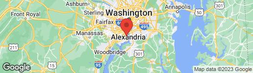 Map of 1921 MARTHAS ROAD ALEXANDRIA, VA 22307