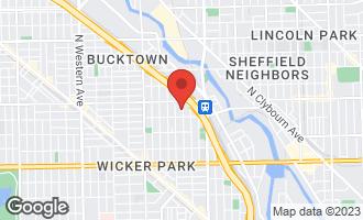 Map of 1924 North Hermitage Avenue CHICAGO, IL 60622