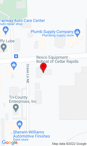 Google Map of Rexco Equipment 1925 Blairs Ferry Road NE, Cedar Rapids, IA, 52402