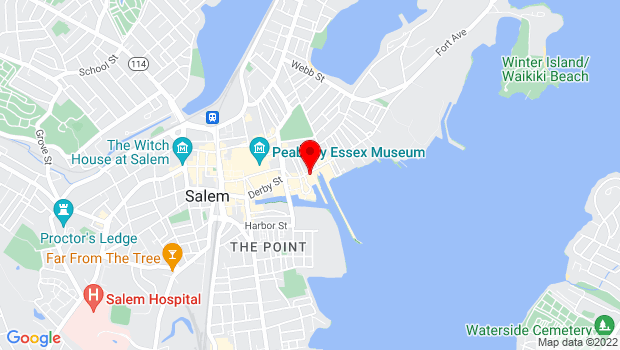 Google Map of 193 Derby St, Salem, MA 01970