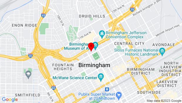 Google Map of 1930 eight ave n., Birmingham, AL 35203