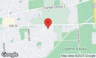Map of 1940 Cobblebrook Lane NAPERVILLE, IL 60565