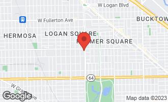 Map of 1940 North Kedzie Avenue #1 CHICAGO, IL 60647