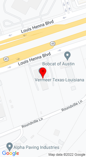 Google Map of Vermeer Texas-Louisiana 1945 Louis Henna Blvd, Round Rock, TX, 78664