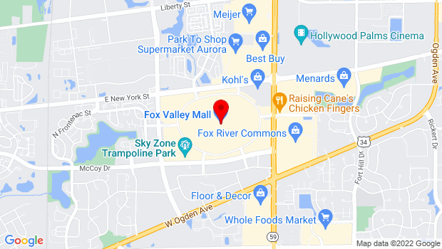 Google Map of 195 Fox Valley Center Road, Aurora, IL 60504