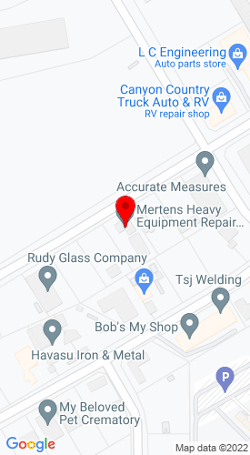 Google Map of Larson Equipment Company, Inc. 1950 Holly Road, Lake Havasu City, AZ, 86403