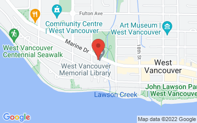 Map of WVMLF Office at West Vancouver Memorial Library