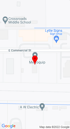 Google Map of Metroquip 1953 E. Commercial, Meridian, OH, 83642