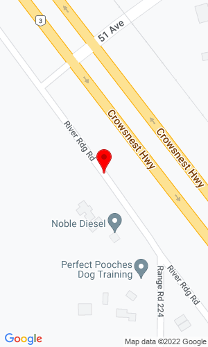 Google Map of Headwater Equipment 1954 River Ridge Rd, Coalhurst, Alberta, Canada, T0L 0V0