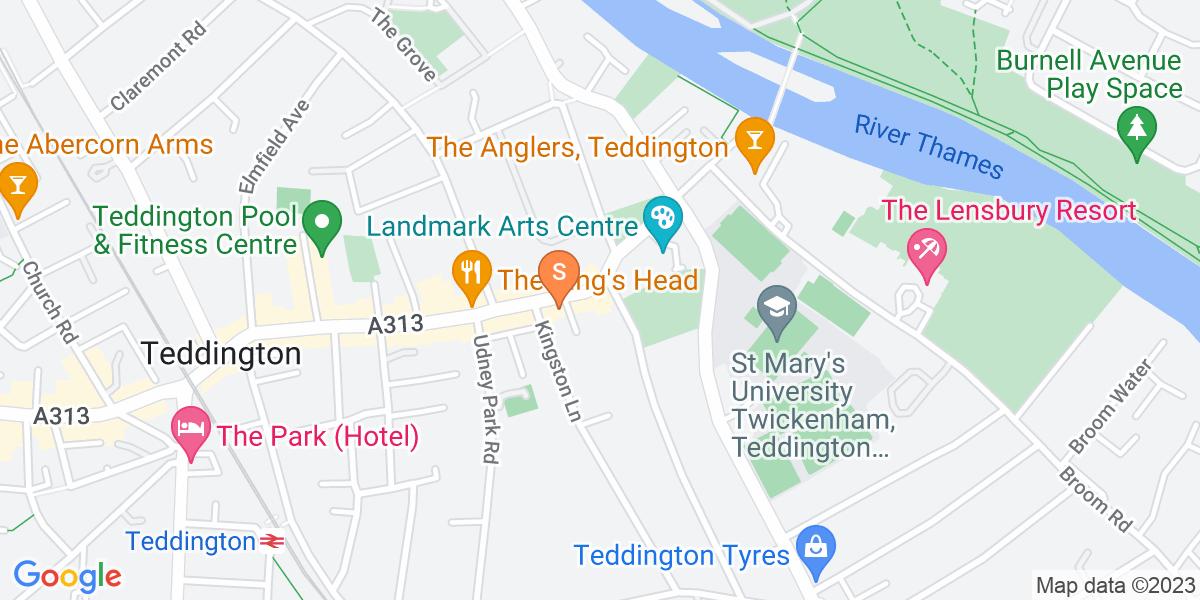 Google Map of 196 High Street TeddingtonTeddington London TW11 8HU