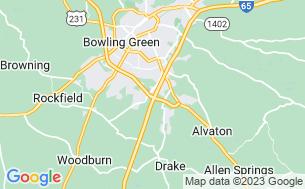 Map of Bowling Green KOA