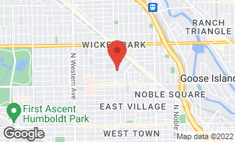Map of 1965 West Evergreen Avenue CHICAGO, IL 60622