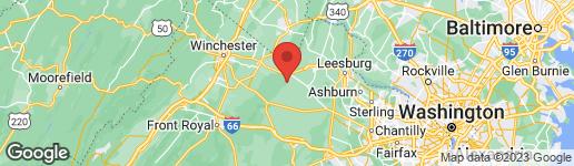 Map of 19729 RIDGESIDE ROAD BLUEMONT, VA 20135