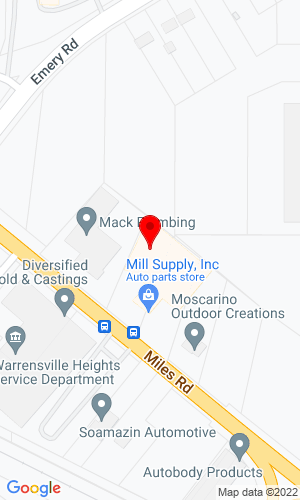 Google Map of Mill Supply, Inc. 19801 Miles Road, Cleveland, OH, 44128