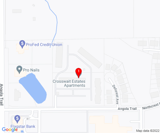 Google Map of 199 Northcrest Rd. Angola, IN 46703class=