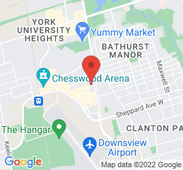 Google Map of 199+Rimrock+Road%2CToronto%2COntario+M3J+3C6