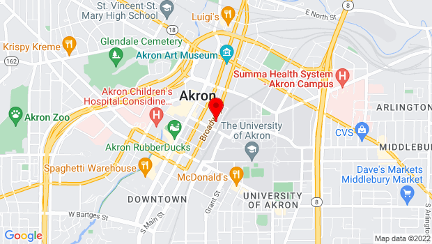 Google Map of 199 S. Broadway St., Akron, OH 44308