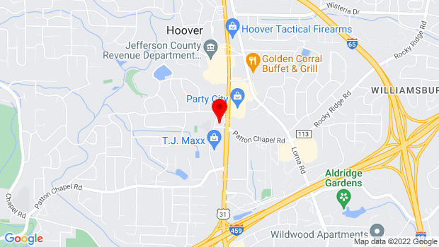 Google Map of 1990 New Patton Chapel Road, Hoover , AL 35226