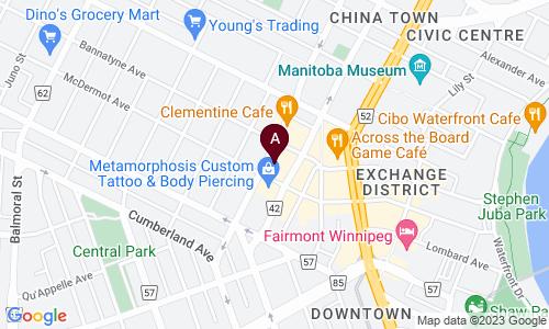 map of Exchange Bartending School