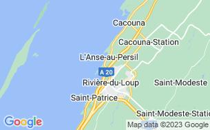 Map of Camping Municipal De La Pointe