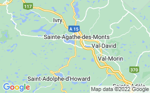 Map of Camping Sainte-Agathe-Des-Monts