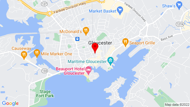 Google Map of 2 Dale Avenue, Gloucester, MA