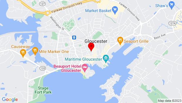 Google Map of 2 Dale Avenue, Gloucester, MA 01930