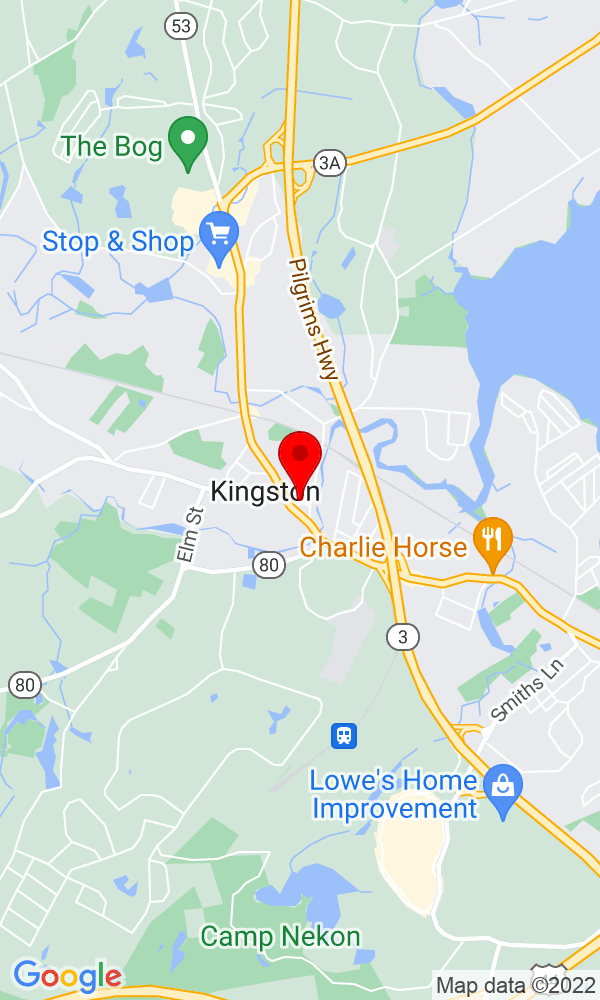 Google Map of 2 Linden Street Kingston MA
