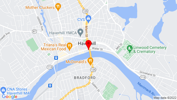 Google Map of 2 Merrimack St., Haverhill, MA 01830