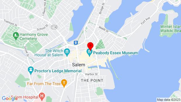 Google Map of 2 New Liberty Street, Salem, MA 01970