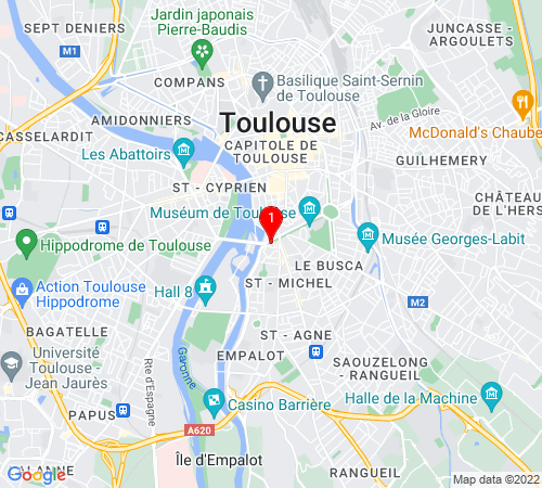 Google Map of 2 allée Paul Feuga, 31400 Toulouse