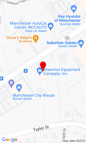 Google Map of Shawmut Equipment Company 20 Tolland Turnpike, Manchester, CT, 06042