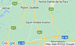 Map of Camping Saint-André-Avellin