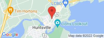 Google Map of 20+King+William+Street%2CHuntsville%2COntario+P1H+1G5