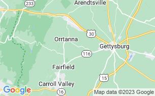 Map of Gettysburg Battlefield KOA Kampground