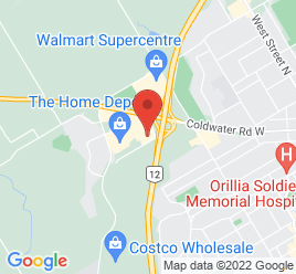 Google Map of 20+Mulcahy+Court%2COrillia%2COntario+L3V+6H9