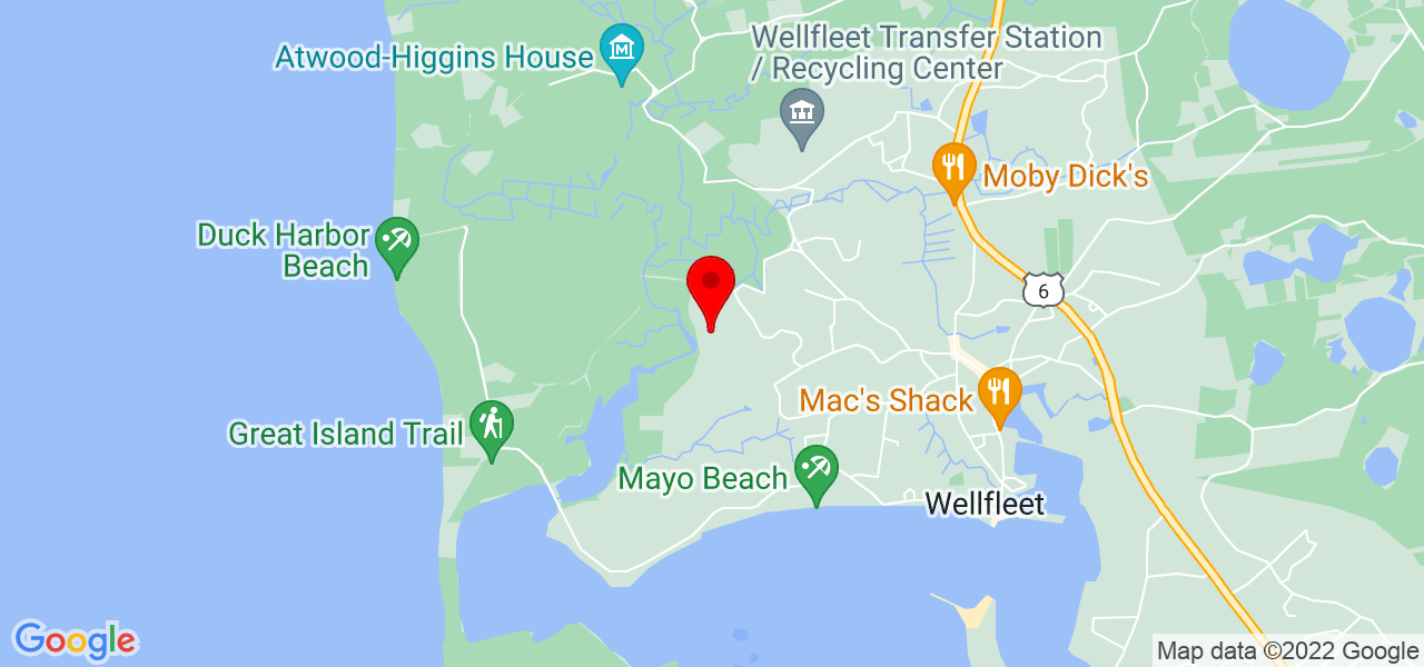 Google Map of 20 Salt Meadow Ln Wellfleet MA